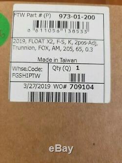 2019 FOX FLOAT X2 KASHIMA FACTORY TRUNNION METRIC SHOCK 205mm x 65mm NEW in BOX