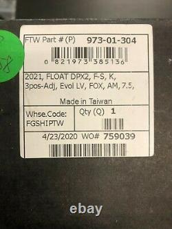 FOX FLOAT DPX2 Factory Rear Shock 7.5 x 2, EVOL LV, 3-Pos. Lev COSMETIC
