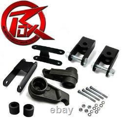 Fits 04-12 Colorado Canyon Steel 3 Keys Shackle Lift Kit Shock Extenders 4WD