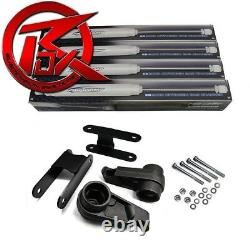 For 04-10 Chevy Colorado 3 Front + Rear Shackles Lift Kit Shocks 4X4 4X2 Z71