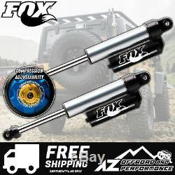 Fox 2.5 Factory Series Rear Reservoir Shocks with DSC For 07-18 Jeep JK 0-2 Lift