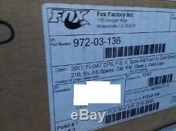 New 2017 Fox Float DPS Shock, Factory Series, EVOL Kashima, 210x55mm